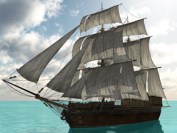 brigantine ship, Black Opal
